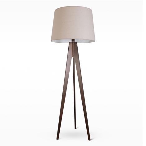 Stojací lampa TRION 1xE27/60W/230V béžová 164 cm