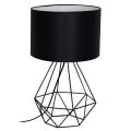 Stolní lampa BASKET 1xE27/60W/230V černá