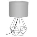 Stolní lampa BASKET 1xE27/60W/230V šedá