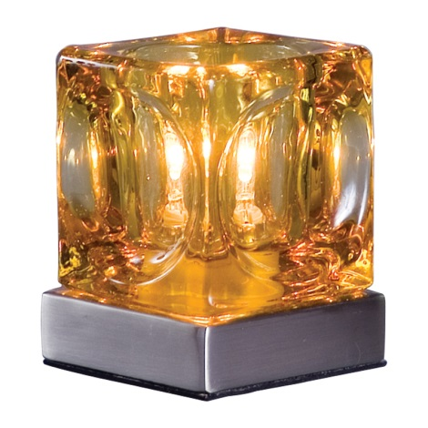 Stolní lampa DECORA hnědá