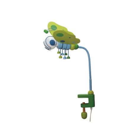 Stolní lampa MOTÝL modrá/zelená