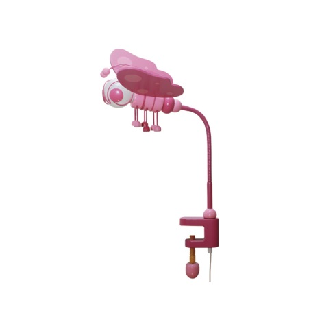 Stolní lampa MOTÝL růžová