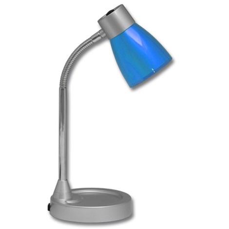 Stolní lampa TINA 1xE14/25W/230V modrá