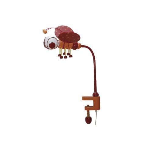 Stolní lampa VČELKA 1xE27/60W/230V červená/oranžová