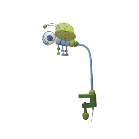 Stolní lampa VČELKA modrá/zelená