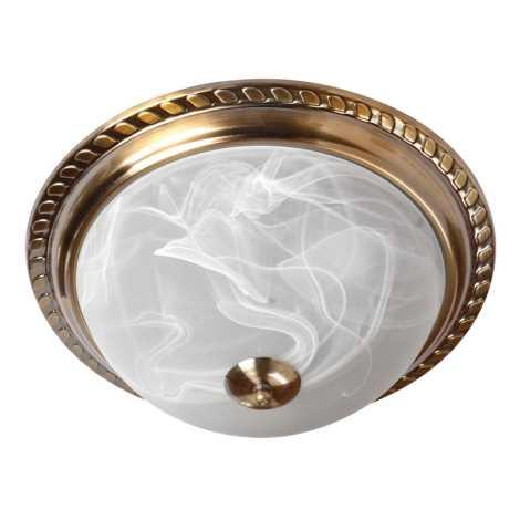 Stropní svítidlo 2xE27/60W bronz/alabastr