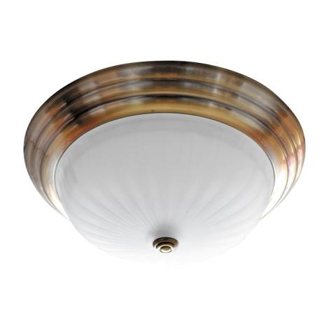 Stropní svítidlo 2xE27/60W bronz/sklo proužky