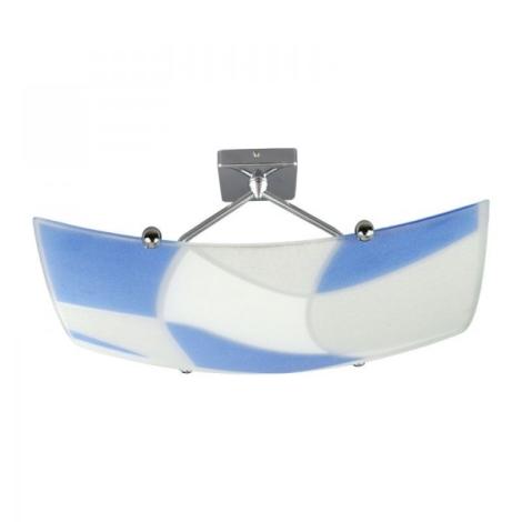 Stropní svítidlo ASPIS 2xE27/100W/230V bílá/modrá