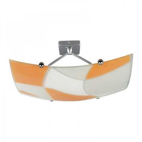 Stropní svítidlo ASPIS 2xE27/100W/230V bílá/oranžová