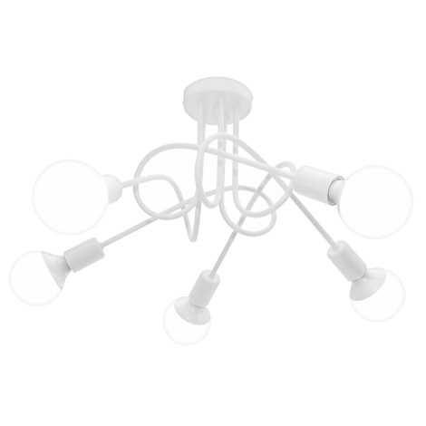 Stropní svítidlo OXFORD 5xE27/60W/230V bílá
