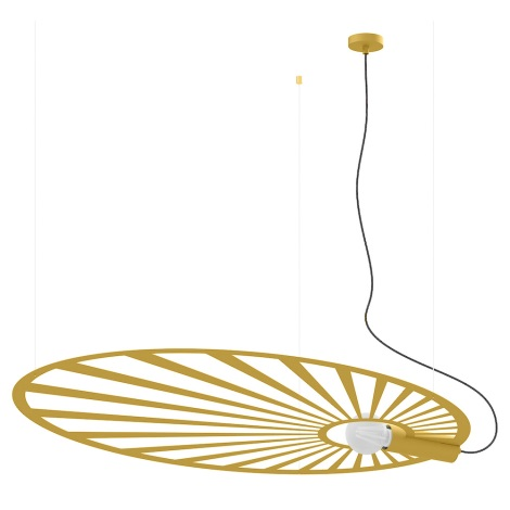 Thoro TH.001 - Lustr na lanku LEHDET 1xE27/60W/230V zlatá