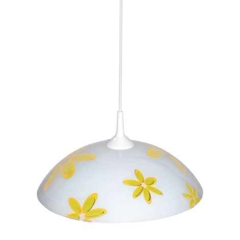 Top Light 1521/Kv/ZL - Lustr 1xE27/60W/230V květy žluté
