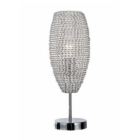 Top Light Davos L - Stolní lampa DAVOS 1xE27/60W/230V chrom