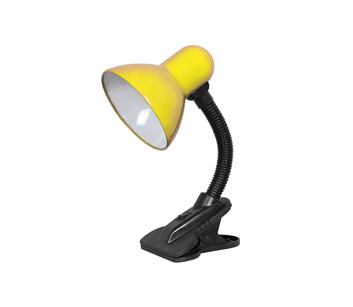 TOP LIGHT Top Light - Lampa s klipem 1xE27/60W/230V žlutá TP0804