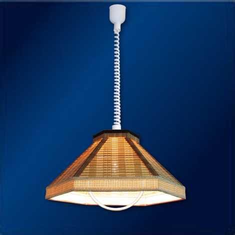 TOP LIGHT Lustr - RUSTIK/H/B E27/60W bambus, textil, plast