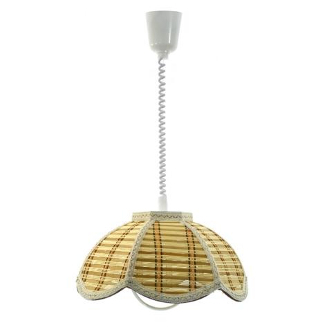 TOP LIGHT Lustr - RUSTIK/K/B E27/60W bambus, textil, plast
