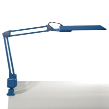 Top Light - Stolní lampa OFFICE 1xG23/11W/230V modrá