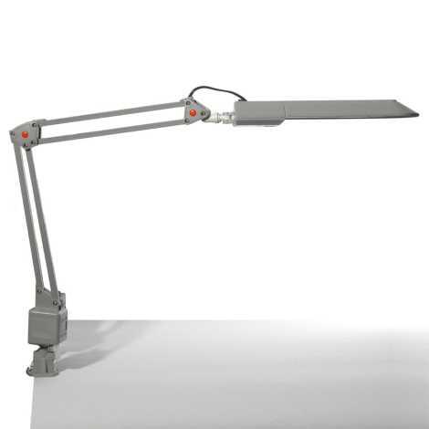 Top Light - Stolní lampa OFFICE 1xG23/11W/230V stříbrná