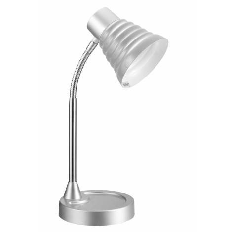 Top Light - Stolní lampa SILVIA 1xE14/40W/230V stříbrná