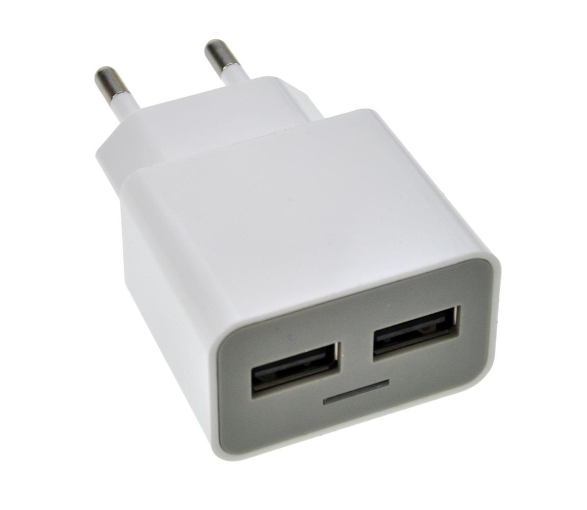 Solight USB Nabíjecí adaptér 2xUSB 2400MmA/AC 230V SL0151