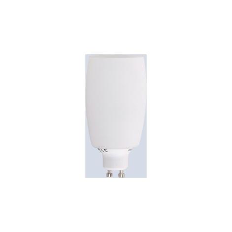Úsporná žárovka GU10/8W sklo soudek bílé