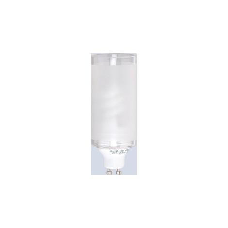 Úsporná žárovka GU10/8W sklo válec