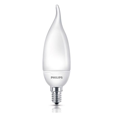Úsporná žárovka Philips E14/8W/230V - SOFTONE