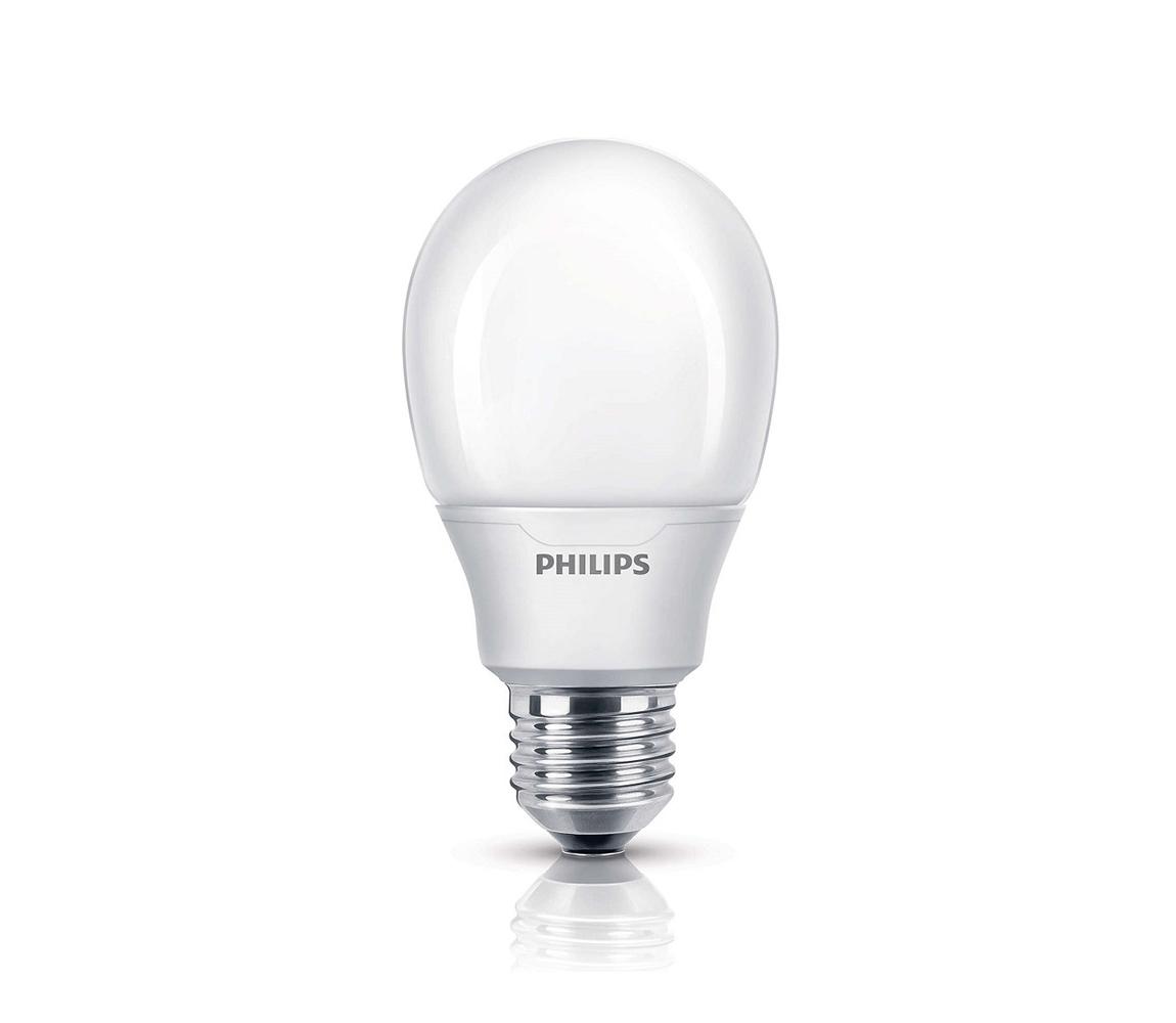 Philips Úsporná žárovka Philips E27/8W/230V 2700K P2124