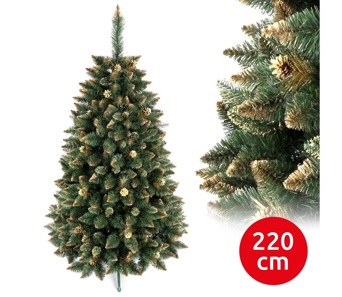 ANMA Vánoční stromek GOLD 220 cm borovice AM0049