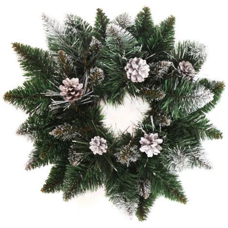 Vánoční věnec CRYSTAL ø 45 cm bílá