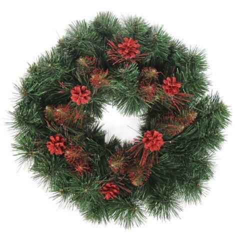Vánoční věnec CRYSTAL ø 45 cm červená
