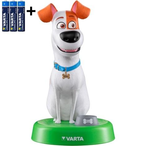 Varta 15641 - LED Dětská lampa THE SECRET LIFE OF PETS LED/3xAAA