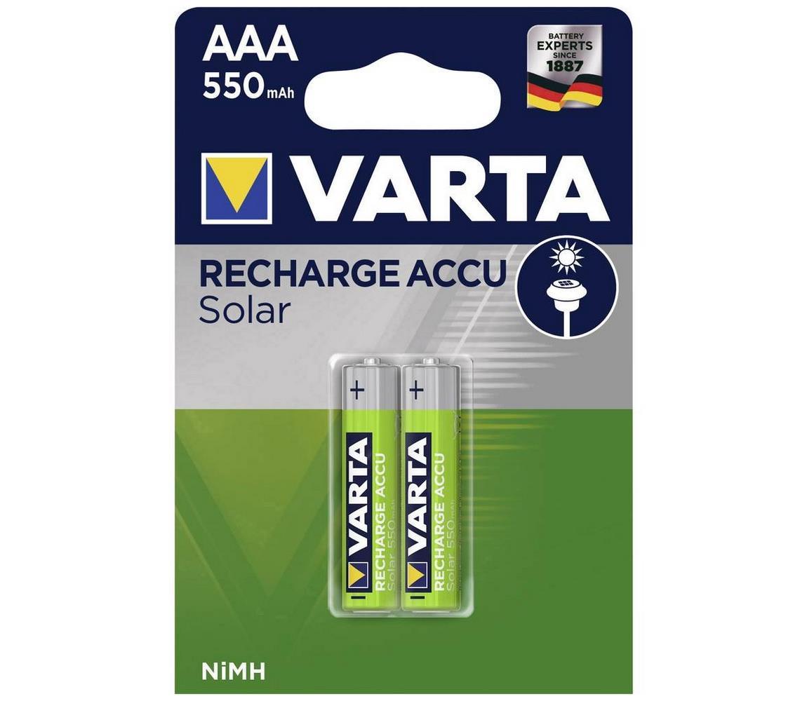 Varta Varta 56733 - 2 ks Nabíjecí baterie SOLAR ACCU AAA NiMH/550mAh/1,2V VA0032