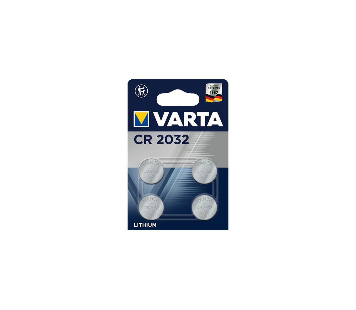 Varta Varta 6032101404 - 4 ks Lithiová baterie knoflíková ELECTRONICS CR2032 3V VA0209