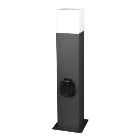 Venkovní lampa se zásuvkou NEW YORK 1xE27/40W/230V IP44