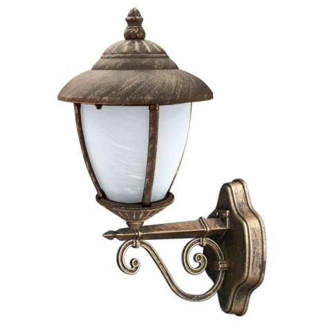 Venkovní nástěnné svítidlo ANCONA LX N ZL 1xE27/60W