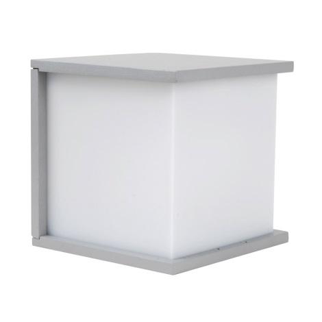 Venkovní nástěnné svítidlo NORDIC 1xE27/60W stříbrná