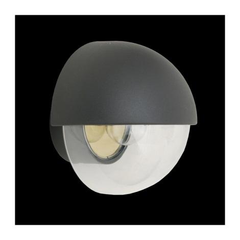 Venkovní nástěnné svítidlo ORIGO 1xE27/75W šedá