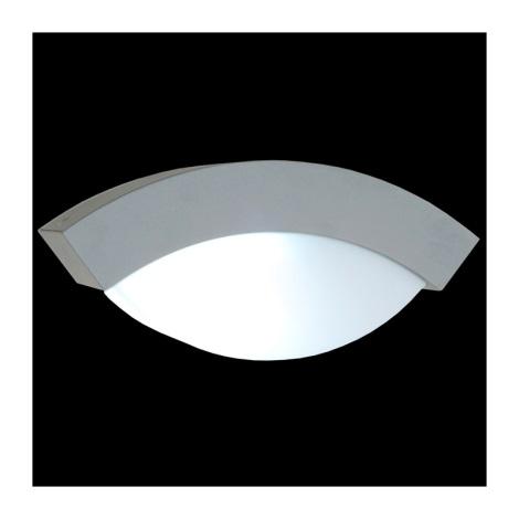 Venkovní nástěnné svítidlo OSLO 1xE27/14W stříbrná