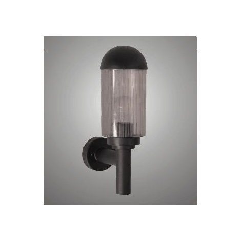 Venkovní nástěnné svítidlo RIVA 30A 1xE27/40W černá/kouřová