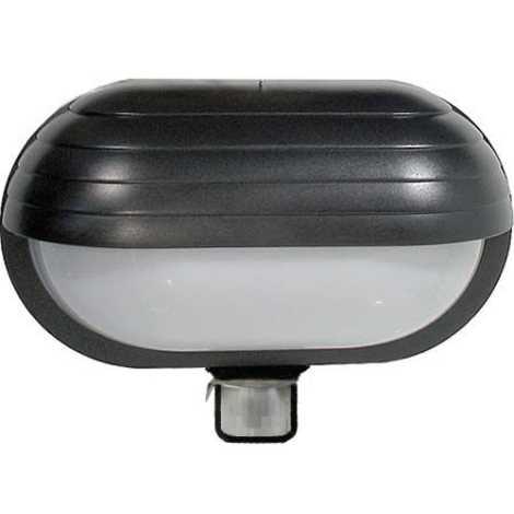Venkovní nástěnné svítidlo s čidlem T261 1xE27/60W/230V