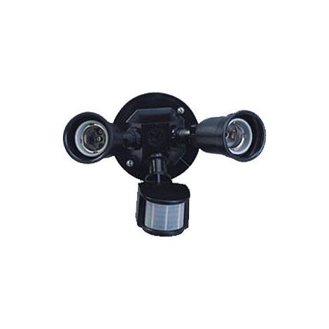 Venkovní nástěnné svítidlo s PIR čidlem T272 2xE27/150W