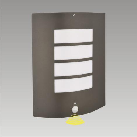 Venkovní nástěnné svítidlo se senzorem MEMPHIS 1xE27/60W/230V