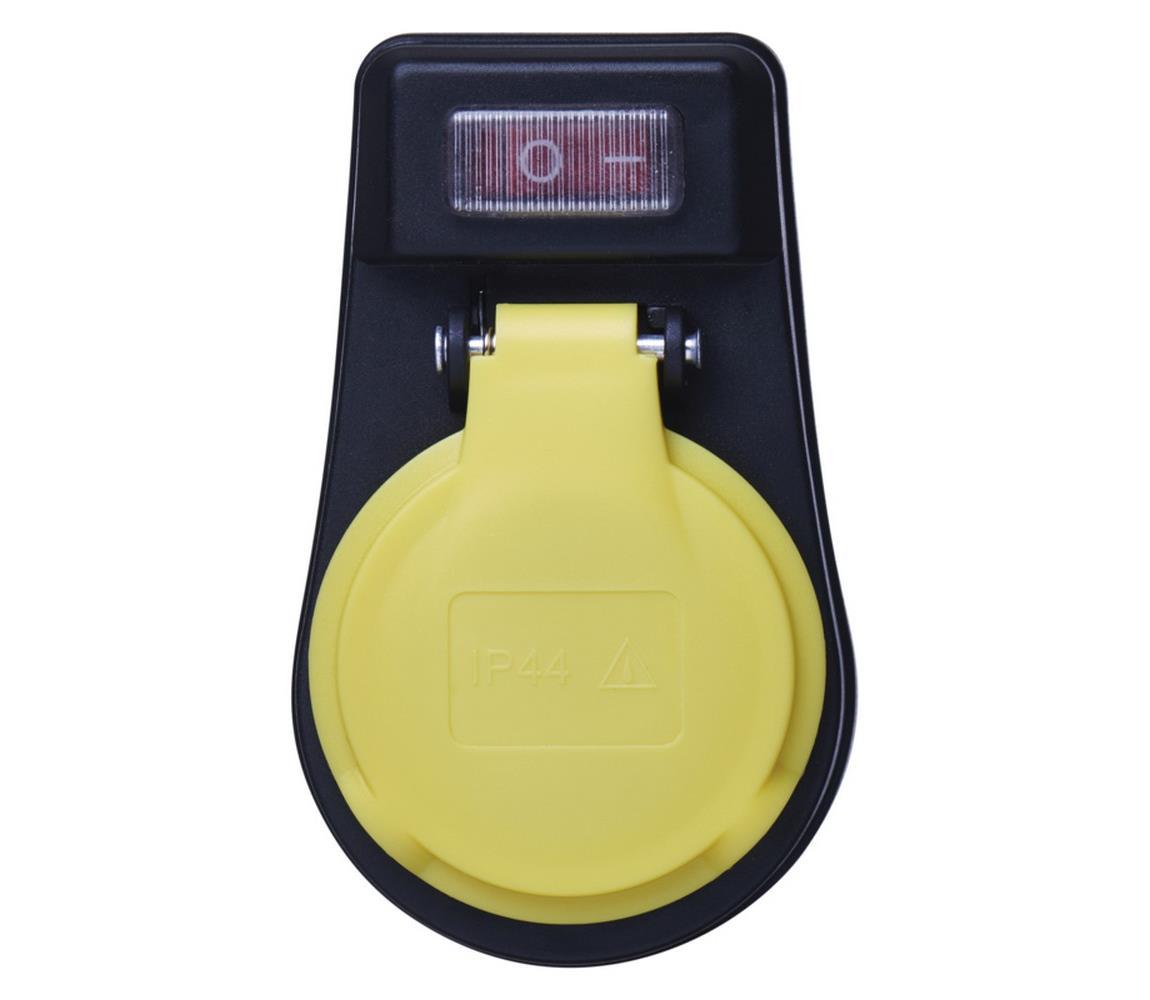 EMOS Venkovní zásuvka s vypínačem FRENCH 250V/16A IP44