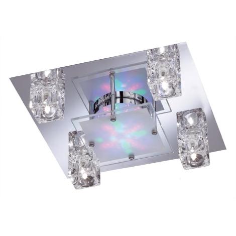WOFI 9599.04.01.0000 - Bodové svítidlo LAZIO 4xG4 RGB LED/20W