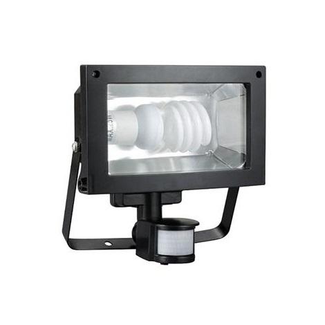 Zářivkový reflektor se senzorem TOMI 1E27 B černá - GXER006