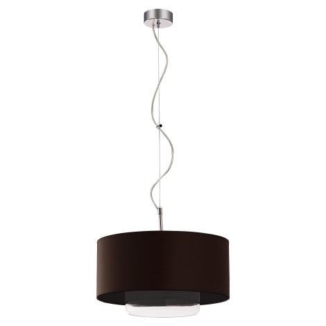 Závěsné svítidlo AVEO 1xE27/80W wenge čiré sklo