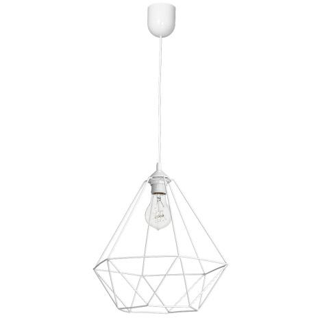 Závěsné svítidlo BASKET 1xE27/60W/230V bílá