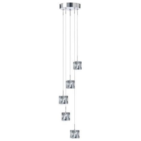 Závěsné svítidlo ICE CUBES 5 5xG4/20W