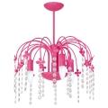 Závěsné svítidlo KROPELKA 3xE14/60W/230V tmavě růžová